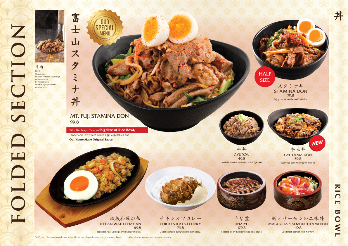 Sato Japanese Restaurant Menu